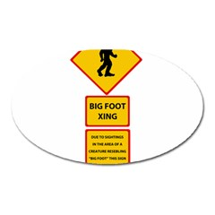 Bigfoot Oval Magnet by Valentinaart