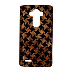 Houndstooth2 Black Marble & Brown Stone Lg G4 Hardshell Case by trendistuff