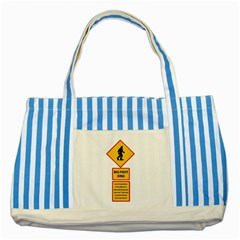 Bigfoot Striped Blue Tote Bag by Valentinaart