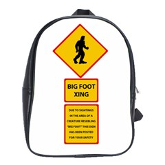 Bigfoot School Bags(large)  by Valentinaart