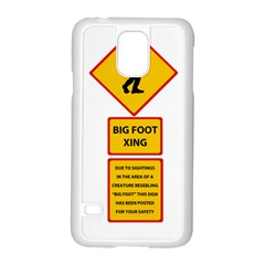 Bigfoot Samsung Galaxy S5 Case (white) by Valentinaart