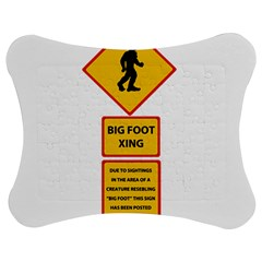 Bigfoot Jigsaw Puzzle Photo Stand (bow) by Valentinaart