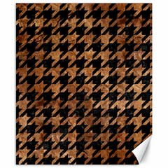 Houndstooth1 Black Marble & Brown Stone Canvas 8  X 10  by trendistuff
