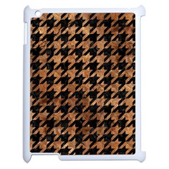 Houndstooth1 Black Marble & Brown Stone Apple Ipad 2 Case (white) by trendistuff