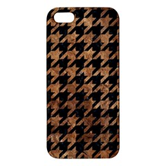 Houndstooth1 Black Marble & Brown Stone Iphone 5s/ Se Premium Hardshell Case by trendistuff