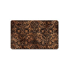 Damask2 Black Marble & Brown Stone (r) Magnet (name Card) by trendistuff