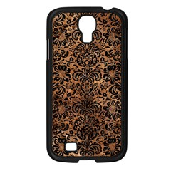 Damask2 Black Marble & Brown Stone (r) Samsung Galaxy S4 I9500/ I9505 Case (black) by trendistuff