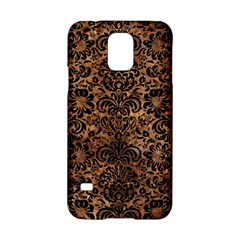 Damask2 Black Marble & Brown Stone (r) Samsung Galaxy S5 Hardshell Case  by trendistuff