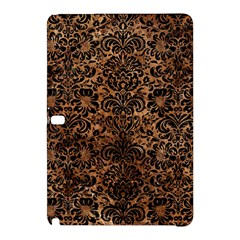 Damask2 Black Marble & Brown Stone (r) Samsung Galaxy Tab Pro 12 2 Hardshell Case by trendistuff