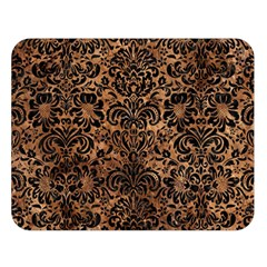 Damask2 Black Marble & Brown Stone (r) Double Sided Flano Blanket (large) by trendistuff