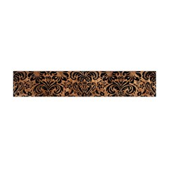 Damask2 Black Marble & Brown Stone (r) Flano Scarf (mini) by trendistuff