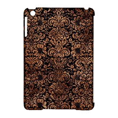 Damask2 Black Marble & Brown Stone Apple Ipad Mini Hardshell Case (compatible With Smart Cover) by trendistuff