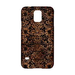 Damask2 Black Marble & Brown Stone Samsung Galaxy S5 Hardshell Case  by trendistuff