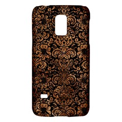 Damask2 Black Marble & Brown Stone Samsung Galaxy S5 Mini Hardshell Case  by trendistuff