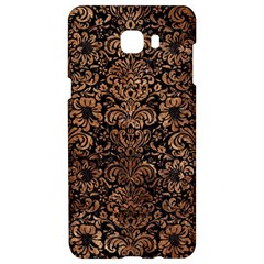 Damask2 Black Marble & Brown Stone Samsung C9 Pro Hardshell Case  by trendistuff