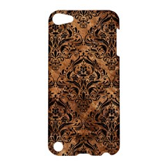 Damask1 Black Marble & Brown Stone (r) Apple Ipod Touch 5 Hardshell Case
