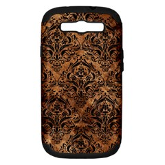 Damask1 Black Marble & Brown Stone (r) Samsung Galaxy S Iii Hardshell Case (pc+silicone) by trendistuff