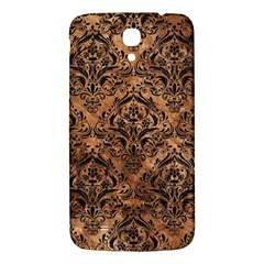 Damask1 Black Marble & Brown Stone (r) Samsung Galaxy Mega I9200 Hardshell Back Case by trendistuff