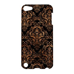 Damask1 Black Marble & Brown Stone Apple Ipod Touch 5 Hardshell Case