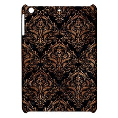 Damask1 Black Marble & Brown Stone Apple Ipad Mini Hardshell Case by trendistuff