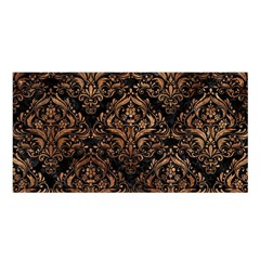 Damask1 Black Marble & Brown Stone Satin Shawl by trendistuff