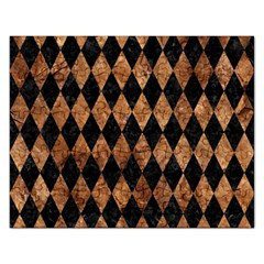 Diamond1 Black Marble & Brown Stone Jigsaw Puzzle (rectangular) by trendistuff