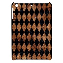Diamond1 Black Marble & Brown Stone Apple Ipad Mini Hardshell Case by trendistuff