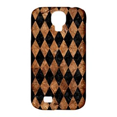 Diamond1 Black Marble & Brown Stone Samsung Galaxy S4 Classic Hardshell Case (pc+silicone) by trendistuff