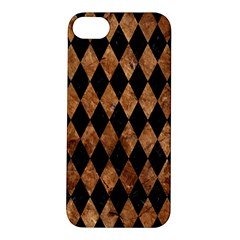 Diamond1 Black Marble & Brown Stone Apple Iphone 5s/ Se Hardshell Case by trendistuff