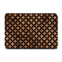 Circles3 Black Marble & Brown Stone (r) Small Doormat by trendistuff
