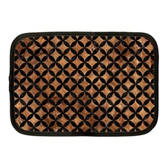 Circles3 Black Marble & Brown Stone (r) Netbook Case (medium) by trendistuff