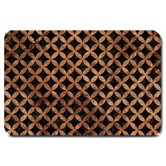 Circles3 Black Marble & Brown Stone Large Doormat by trendistuff