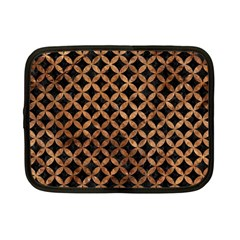 Circles3 Black Marble & Brown Stone Netbook Case (small) by trendistuff