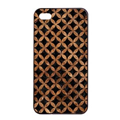 Circles3 Black Marble & Brown Stone Apple Iphone 4/4s Seamless Case (black) by trendistuff