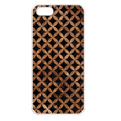Circles3 Black Marble & Brown Stone Apple Iphone 5 Seamless Case (white) by trendistuff