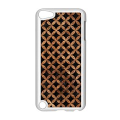 Circles3 Black Marble & Brown Stone Apple Ipod Touch 5 Case (white) by trendistuff