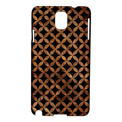Circles3 Black Marble & Brown Stone Samsung Galaxy Note 3 N9005 Hardshell Case by trendistuff