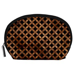 Circles3 Black Marble & Brown Stone Accessory Pouch (large) by trendistuff