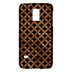 Circles3 Black Marble & Brown Stone Samsung Galaxy S5 Mini Hardshell Case  by trendistuff