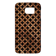 Circles3 Black Marble & Brown Stone Samsung Galaxy S6 Hardshell Case  by trendistuff