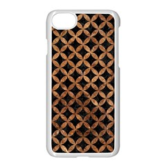 Circles3 Black Marble & Brown Stone Apple Iphone 7 Seamless Case (white) by trendistuff