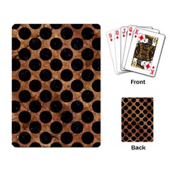 Circles2 Black Marble & Brown Stone (r) Playing Cards Single Design by trendistuff