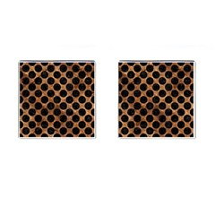 Circles2 Black Marble & Brown Stone (r) Cufflinks (square) by trendistuff