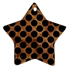 Circles2 Black Marble & Brown Stone (r) Star Ornament (two Sides) by trendistuff