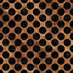 Circles2 Black Marble & Brown Stone (r) Magic Photo Cube by trendistuff