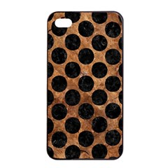 Circles2 Black Marble & Brown Stone (r) Apple Iphone 4/4s Seamless Case (black) by trendistuff