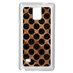 Circles2 Black Marble & Brown Stone (r) Samsung Galaxy Note 4 Case (white) by trendistuff