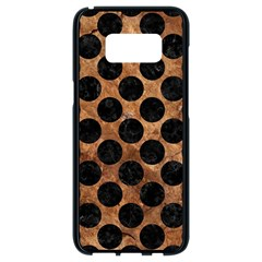 Circles2 Black Marble & Brown Stone (r) Samsung Galaxy S8 Black Seamless Case by trendistuff