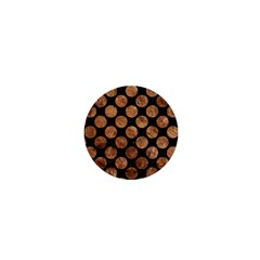 Circles2 Black Marble & Brown Stone 1  Mini Button by trendistuff