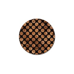 Circles2 Black Marble & Brown Stone Golf Ball Marker by trendistuff